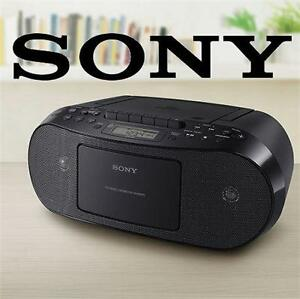 NEW OB SONY CD CASSETTE BOOMBOX Portable Audio : Portable CD Players Boomboxes  66127135