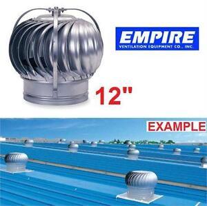 NEW EV TURBINE VENTILATOR EMPIRE VENTILATION - GALVANIZED STEEL Roof Ventilators Wind Driven