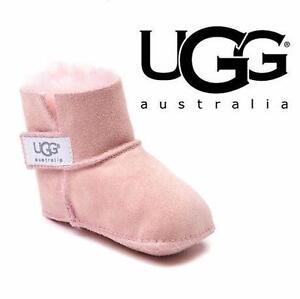 NEW UGG ERIN BOOTIES INFANT 4/5 PINK - SHEEPSKIN