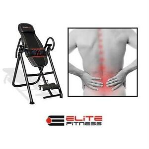 NEW OB EF ADVANCED INVERSION TABLE W/ BUILT IN HEAT AND MASSAGE - ELITE FITNESS exercise home sports medicine therapy