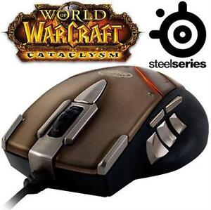 USED SS WOW CATACLYSM MMO MOUSE STEELSERIES WORLD OF WARCRAFT GAMING MOUSE - PC COMPUTER - GAMES