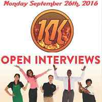 Many positions available (restaurant) Open Interview This Monday
