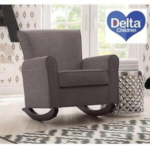 NEW* DELTA NURSERY ROCKER CHAIR 516530-3101 189164706 SWEET GREY GRAY EPIC BABY CHILDREN FURNITURE