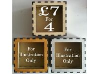 *** CALLING ALL CRAFTERS *** 4 inch box frames only £1.75 each !!!