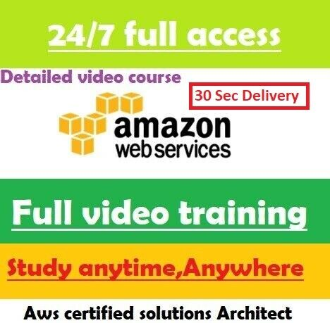 AWS Certified Solutions Architect - Associate FULL video course 30 Sec Delivery