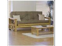 Three-seater wood-framed Sofa Bed / Futon - £160