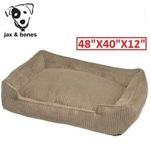 NEW CORDUROY LOUNGE DOG BED 4840-HONY-LG 210309191 JAX AND JONES 48 X 40 X 12 INCHES  X LARGE