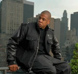 Jay-Z Rocawear Jacket with leather sleeves