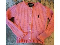 Ralph Lauren girls pink cardigan