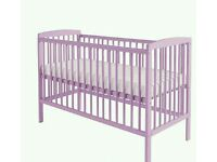 Kinder valley Sydney cot pink Lavender. With free mattress. 2 lift in stock.
