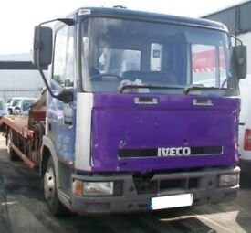 Ford Iveco tecter 7.5 ton hiab crane recovery truck spares or repair starts and drives 07466337981