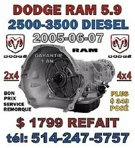 TRANSMISSION DODGE RAM 2500-3500 5.9 DIESEL 2005-06-07