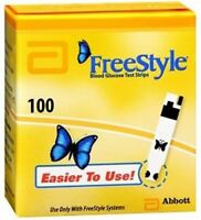 NEW 100CT ABBOTT FREESTYLE TEST STRIPS   BLOOD GLUCOSE EXP 05 20