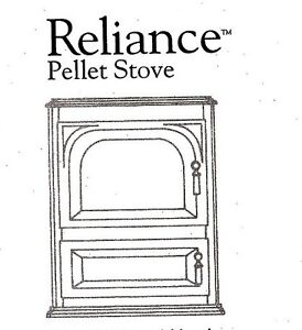 Reliance Pellet Stove - Ivory colour in good condition
