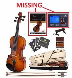 NEW* CECILIO SOLID WOOD VIOLIN EBONY FITTED 4/4 (FULL SIZE) VIOLIN - STRINGS MUSIC INSTRUMENT 96721315