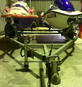 Honda Aquatrax Jet Ski on twin trailer, only 54hr in new condition Kendall Port Macquarie City Preview