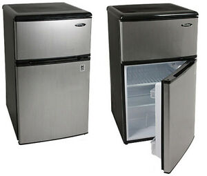 Whirlpool Stainless Bar Fridge/ Freezer 3.1 cu. ft