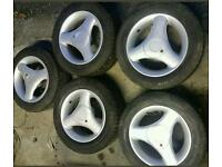 "5 x 14"" 3 spoke alloy wheels 4x108"