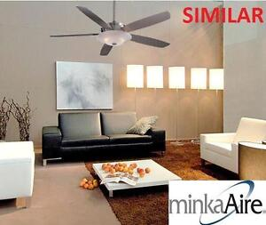 """NEW MINKA-AIRE 54"""" CEILING FAN 54 INCH CEILING FAN WITH LIGHT - BRUSHED NICKEL 103013837"""