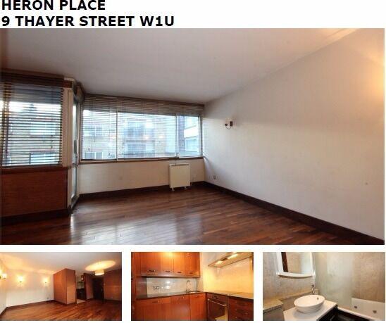 1 bed portered block Thayer street W1U