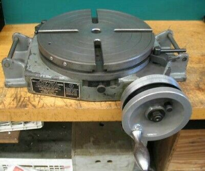12 Bridgeport Milling Machine Rotary Table U.s.a. Vgc