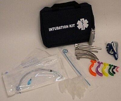 New Medsource Fully Stocked Emt Paramedic Medical Intubation 4-blade Pack Kit