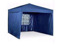 Waterproof 3mx3m Pop-Up Garden Gazebo with Side Panels-Blue 112.