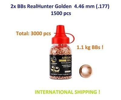 Air rifle Airgun pellets BB/'s BBS GOLDEN DEVILS 4.5 mm .177 1500 pcs