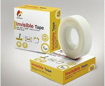 6 Rolls Invisible Office Tape 34 X 1000