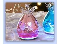 Glass Angels With Lights Blue Or Pink