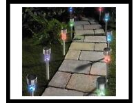 Pack of 10 Colour Change Solar Lights