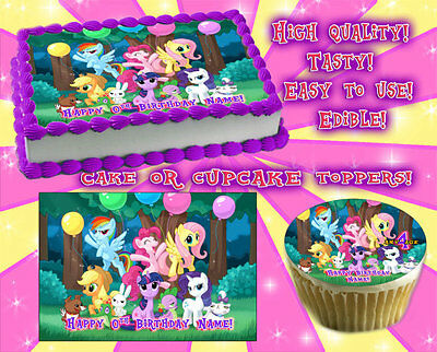 My little pony Edible Cake Toppers image sheet sugar paper birthday picture idea