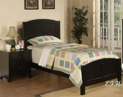 NEW COTTAGE STYLE BEAD BOARD BLACK FINISH WOOD TWIN BED Cottage Style Bed