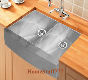33-Double-Bowl-BL-Stainless-Steel-Farmhouse-Apron-Kitchen-Sink-AP3320BL