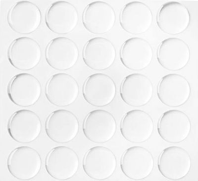 """300 1"""" Dome Circle Clear Epoxy Stickers for Bottle Cap Craft 1.5MM THICKNESS GEK"""