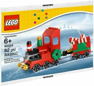 Lego Santa Christmas Train 40034 Rail Car Candy Cane NEW Stocking Stuffer