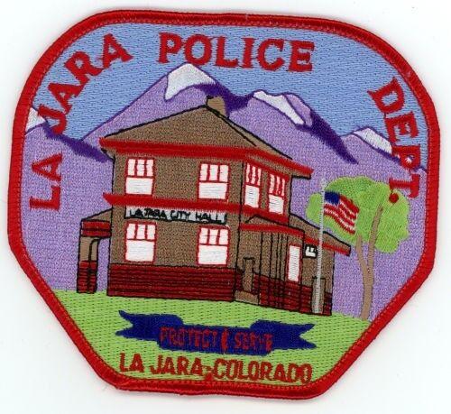 LA JARA COLORADO CO POLICE COLORFUL PATCH STYLE #1 SHERIFF
