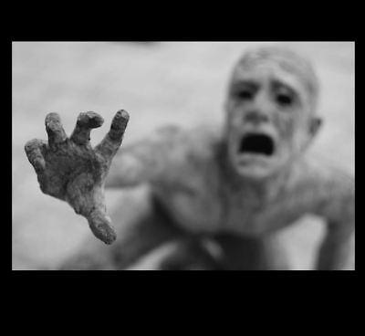 Scary Zombie Freak PHOTO Shocking Spooky Demon Alien Reaching Out for Help