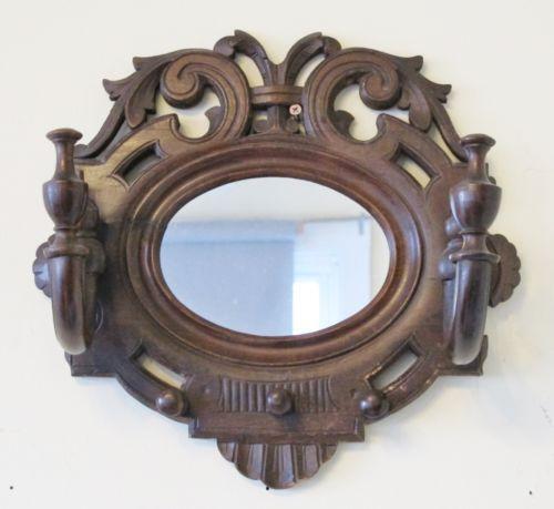 Antique Mirror Coat Rack Ebay