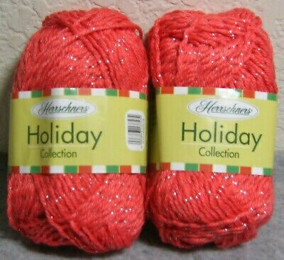 Lot of 2 Skeins Herrschners Holiday / Christmas #4 Sparkle Yarn : Anise  ()