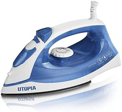 Steam Iron w/ Dry Iron Function Nonstick Soleplate Small Size 1200 Watt Utopia