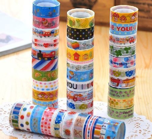 10-Kawaii-Tape-Cartoon-Washi-Tape-Japanese-Decorative-Tape-Scrapbooking-Stickers