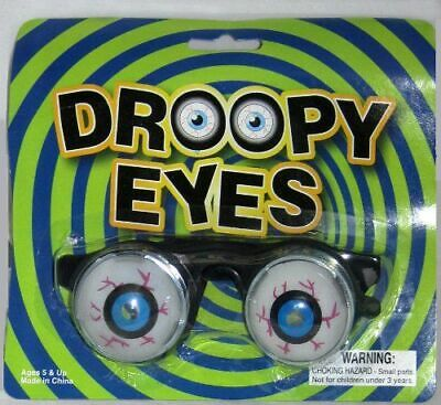 Droopy Eyes Novelty Glasses Blk Frame W/ Pop Out Spring Eye Ball Novelty Glasses (Droopy Eye Glasses)