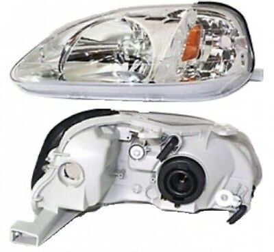1999-2000 Driver Side LH Headlight Honda Civic CX, DX, EX, GX, HX, LX, Si