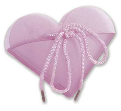 Hot Pink Frosted Heart Take Out Boxes (10)-  Wedding Baby Shower Party Favor
