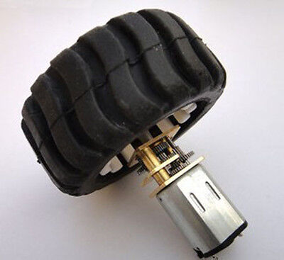 1pcs N20 Dc 6v Small Dc Motor With Rubber Wheel