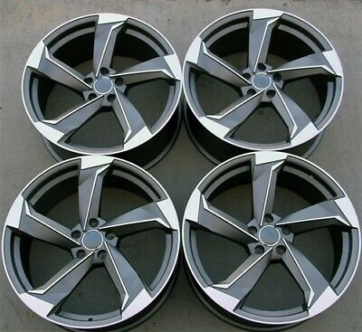 "SET(4) 19"" 19X8.5 5x112 RS STYLE WHEELS AUDI A5 S4 S5 S4 R8 A6 Q5 A8 Q3"