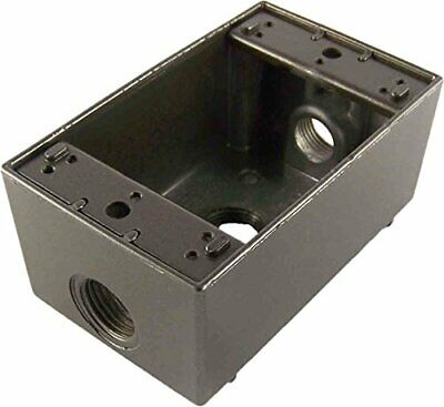 Greenfield B23brs Series Weatherproof Electrical Outlet Box Bronze