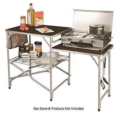 Plegable Acampada Cocina Con Mesa Lateral Soporte Para Campo Coronel Kampa
