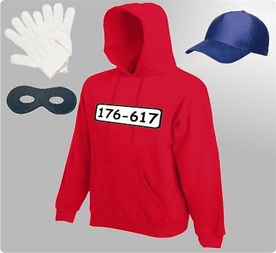 Für Panzerknacker Kostüm Fans Kapuzensweatshirt Karneval Fasching Hoodie - Kapuzen Langarm Kostüm